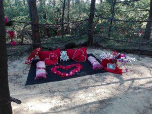 Secret Garden picnic set up