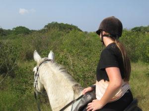 Girl on horse in bush